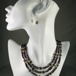 Garnet and Smoky Quartz necklace