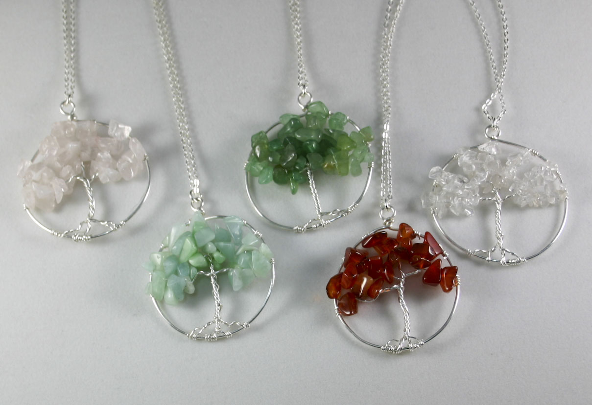 Tree of Life pendants - through the seasons