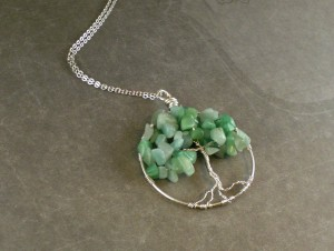 Jade Tree of Life pendant