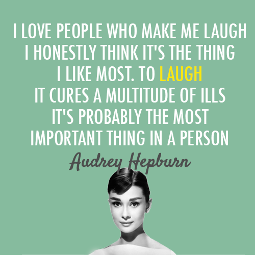Audrey Hepburn Laugh