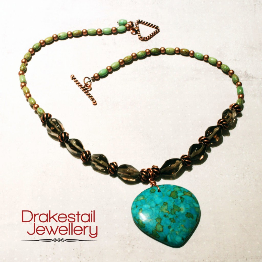 100 Day Challenge: Day 21. Copper and Turquoise Necklace