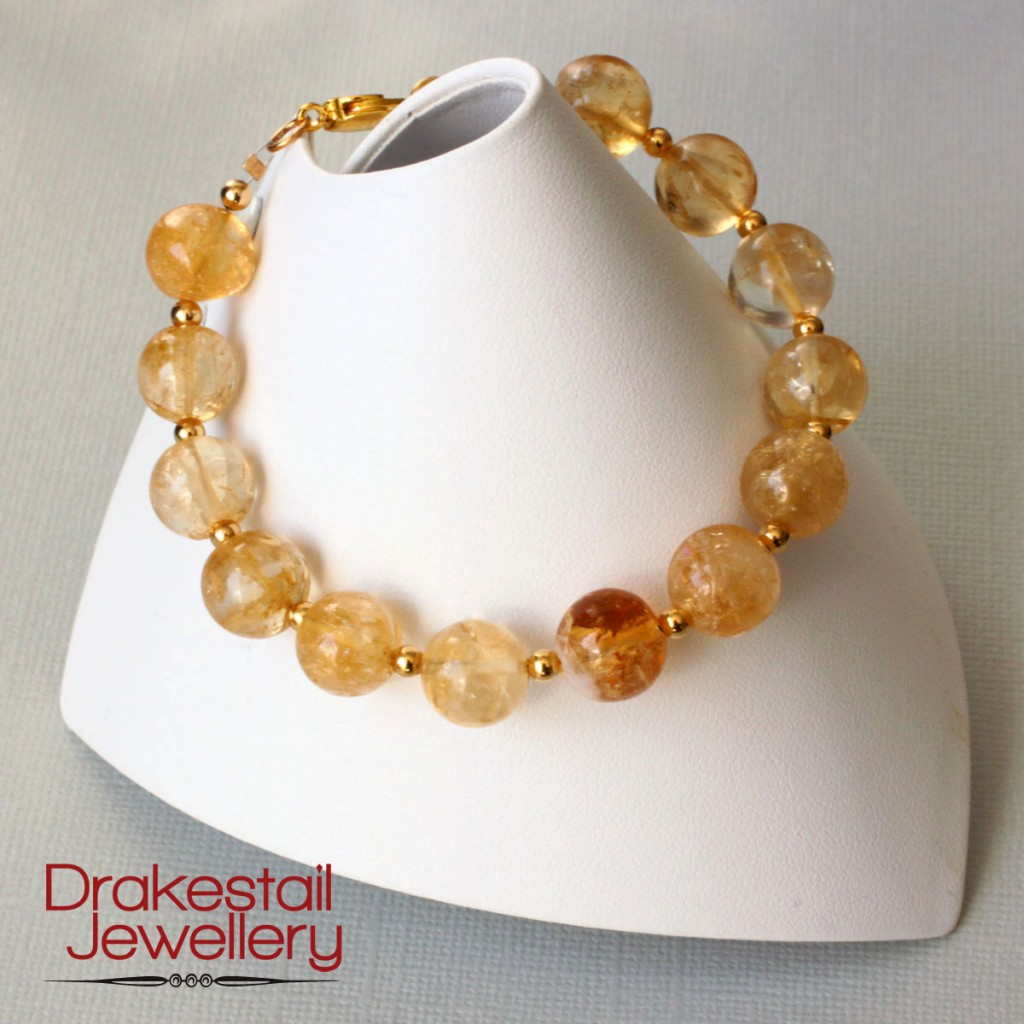 100 Day Challenge: Day 25. Citrine and gold bracelet