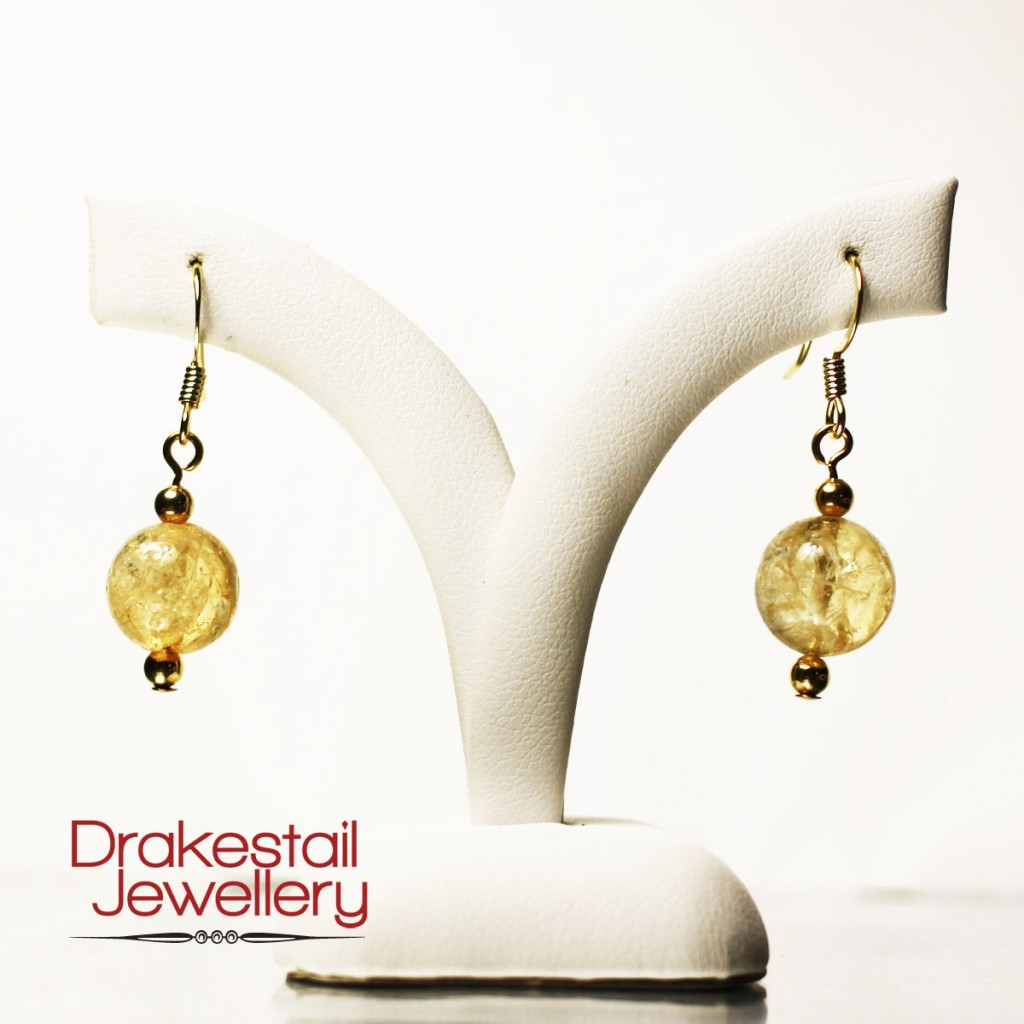 100 Day Challenge: Day 27. Citrine earrings