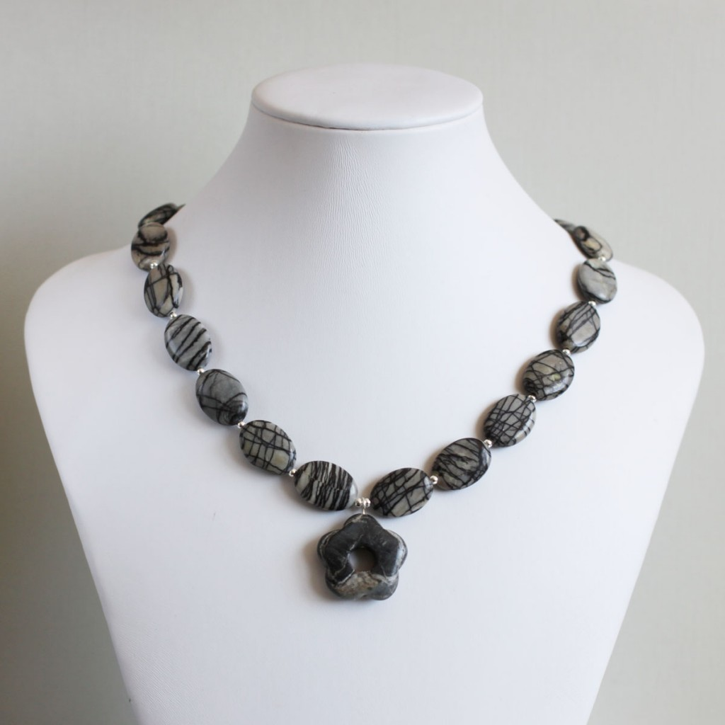 100 Day Challenge: Day 40. Black line and charcoal jasper.