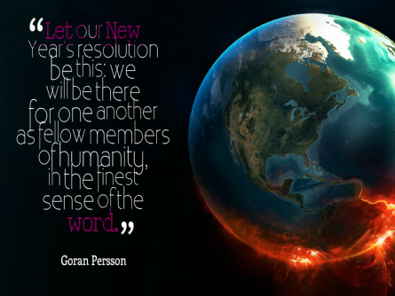 Goran Persson New Year's resolution