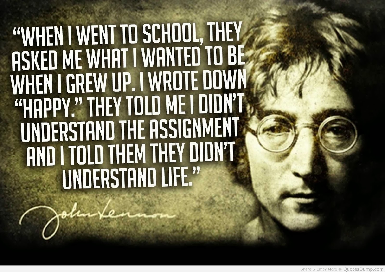 John Lennon Happy Quote