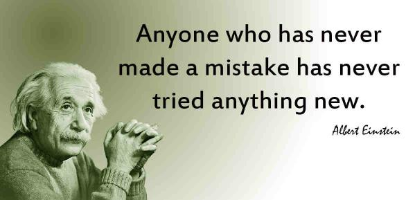 Einstein quote on Mistakes
