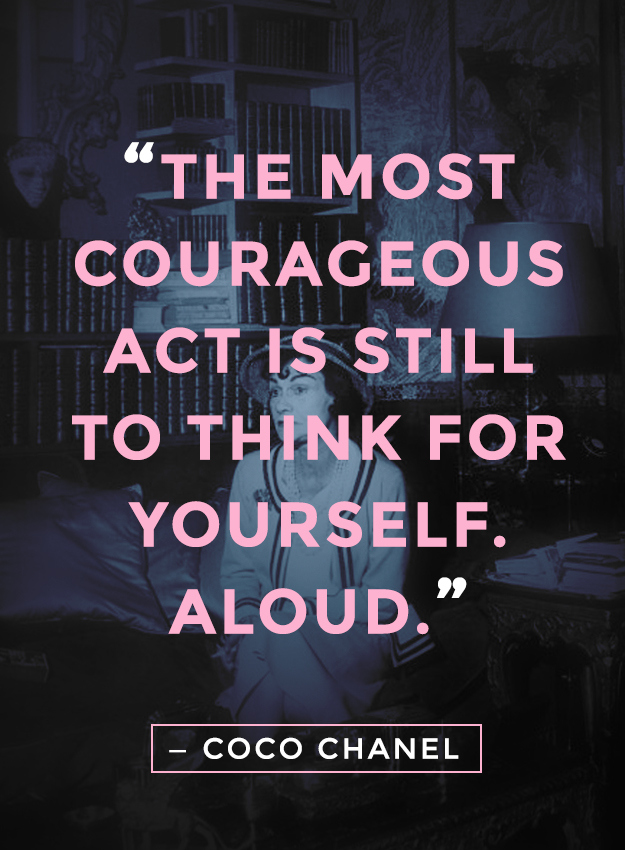 Coco Chanel Courageous
