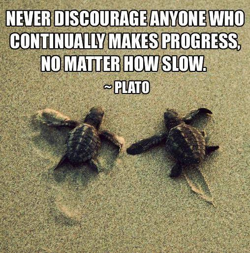 Plato quote on making progress