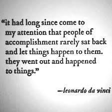 Davinci on accomplishment