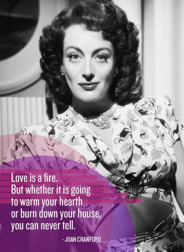 Love quote from Joan Crawford