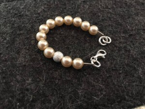 This is a baby shower gift - one of our beautiful Vintage bracelets - sized down for a newborn.