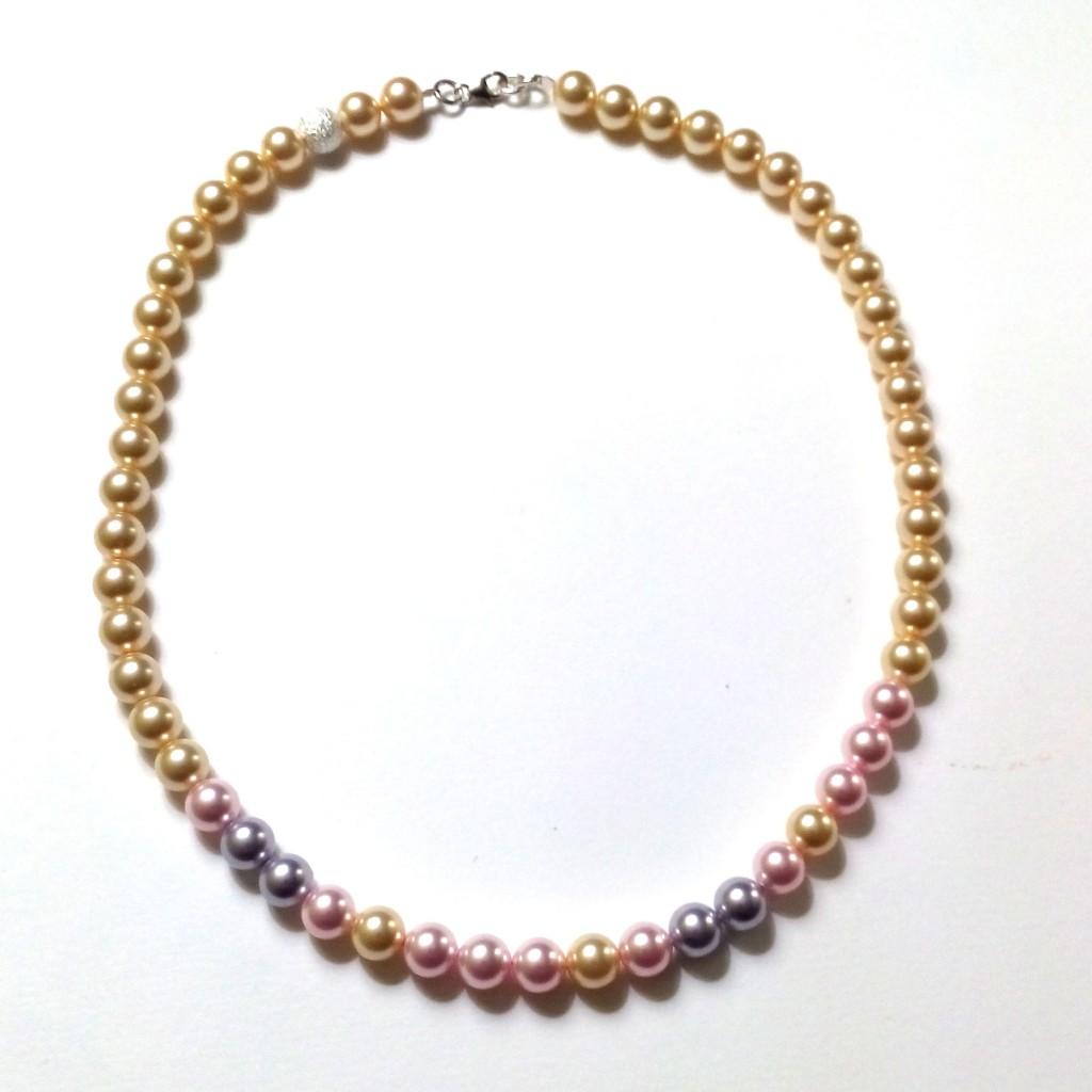 XOXO Morse Code Necklace with Swarovski Pearls