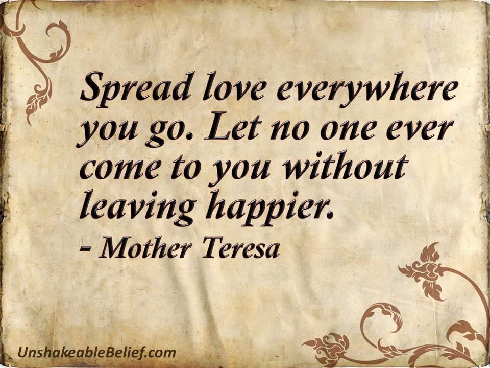 Mother Theresa quote Spread Love