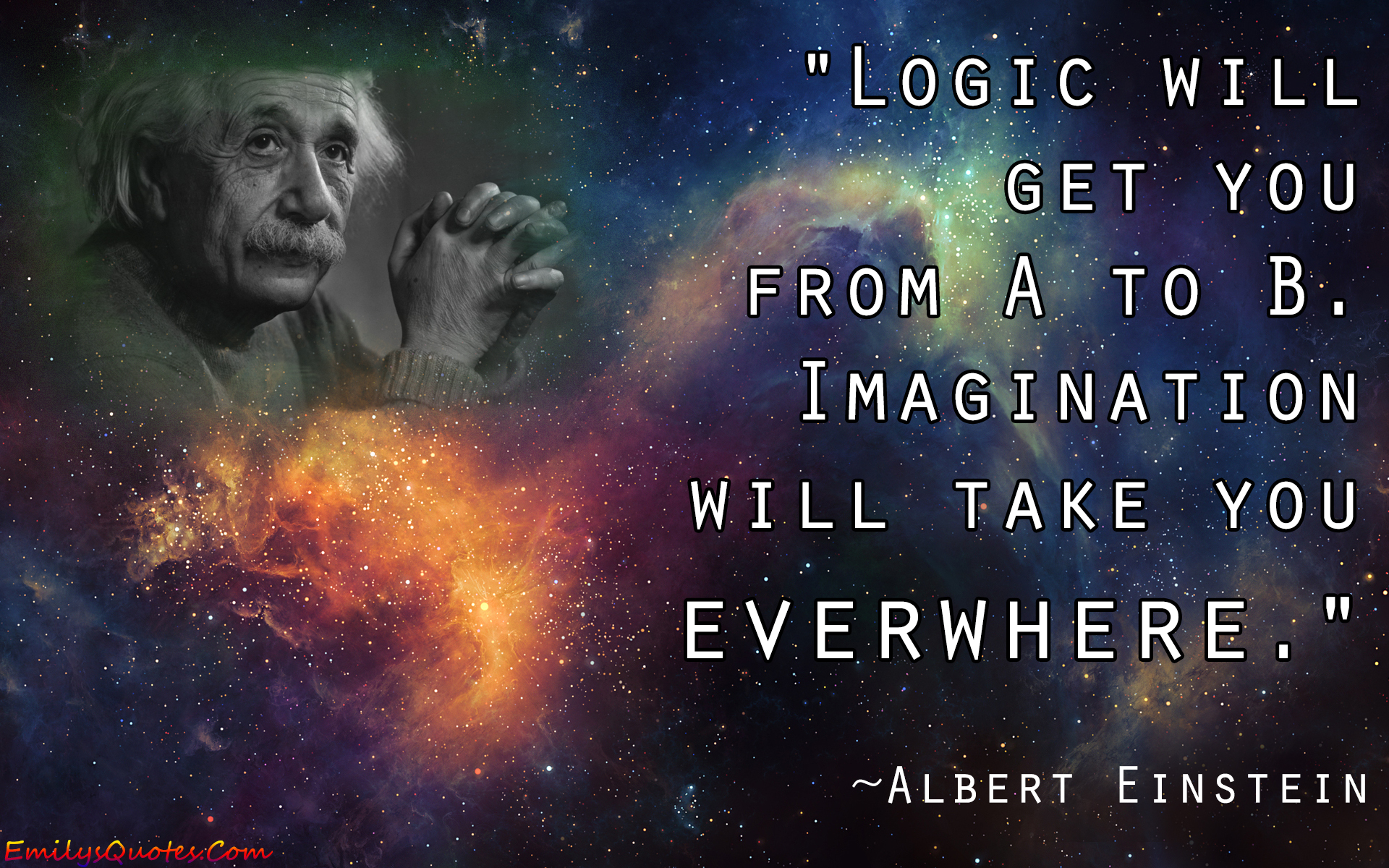 Albert Einstein quote on logic and imagination