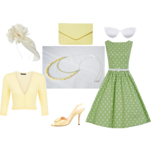 Pearl and Peridot necklace inspired outfit